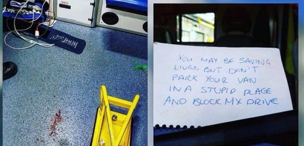 El mensaje que encontraron en una ambulancia tras una urgencia indigna a las redes
