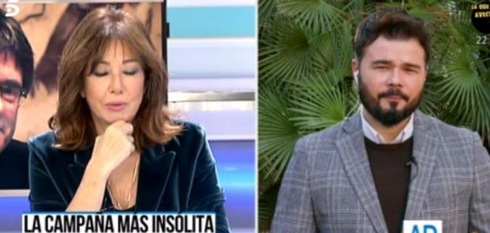El descomunal 'zasca' de Ana Rosa Quintana a Rufián en directo