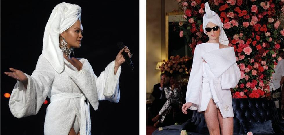 Rita Ora, en albornoz de Palomo Spain