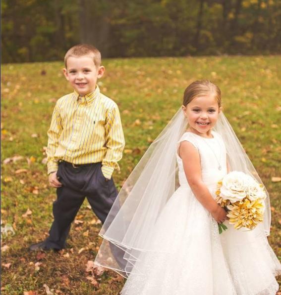Una niña de cinco años se 'casa' con su mejor amigo antes de someterse a una operación a corazón abierto