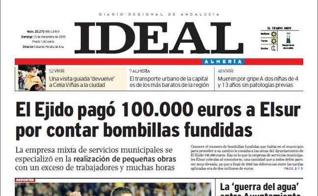 2009: El Ayuntamiento de El Ejido paga 100.000 euros por contar bombillas fundidas