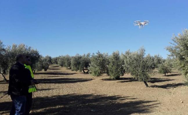 Agricultores se forman para pilotar drones y usarlos en la agricultura de precisión