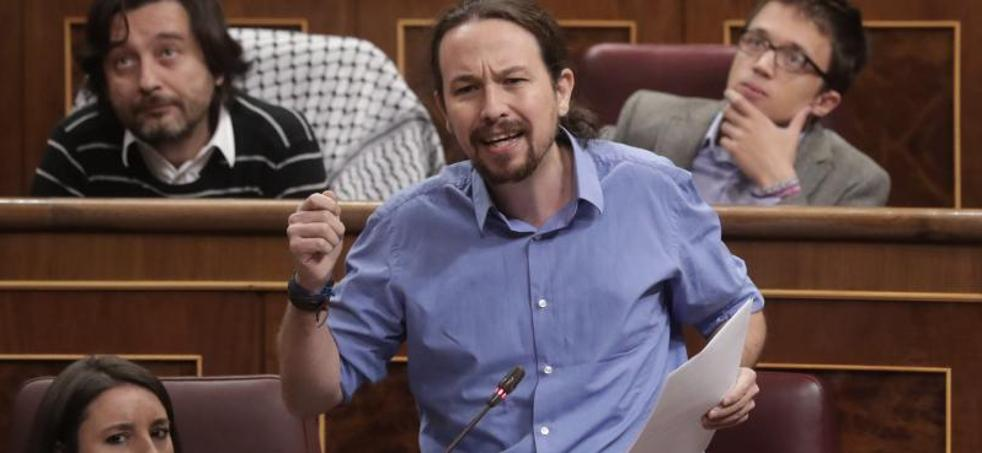 Pablo Iglesias llama «delincuente» a Rajoy por la corrupción