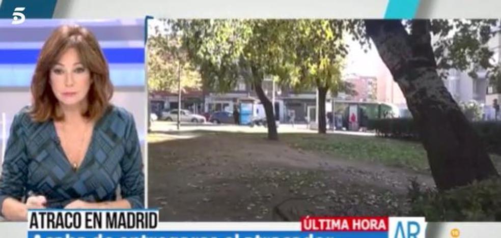 """""""¡Me cago en la leche, es mi vecino!"""": reconoce en el programa de Ana Rosa al atracador de Madrid"""