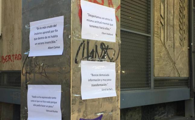 Los misteriosos mensajes que inundan de literatura Jaén