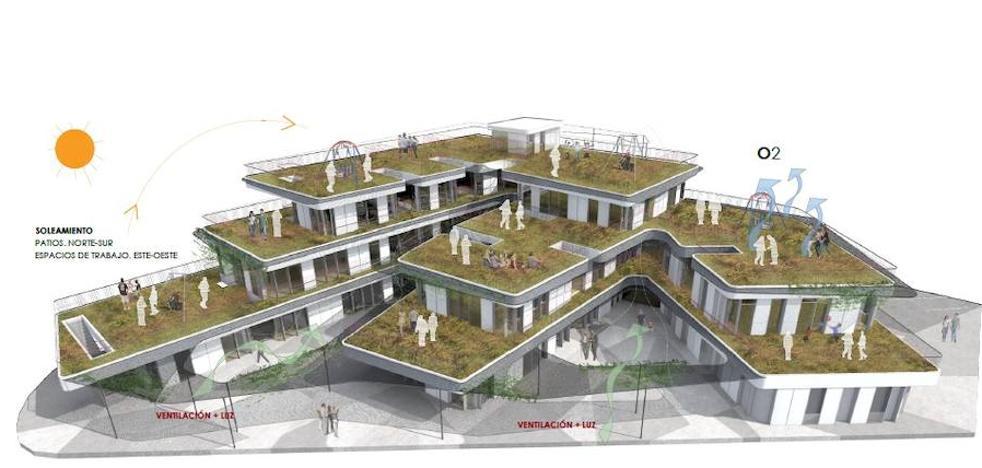 Un centro futurista de 2.000 metros cuadrados para asociaciones en La Vega de Acá