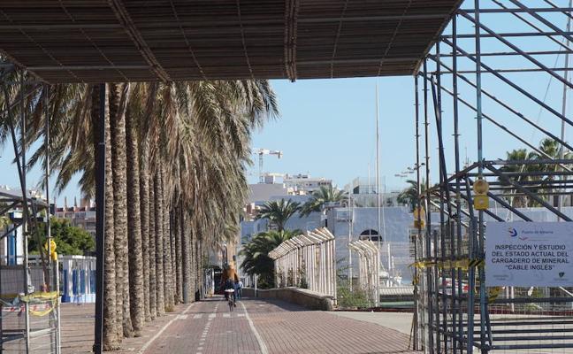 El Puerto de Almería acomete actuaciones de mantenimiento en el 'Cable Inglés'