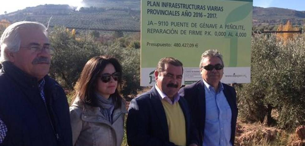 La Diputación invierte más de medio millón de euros en la carretera que une Puente de Génave con Peñolite