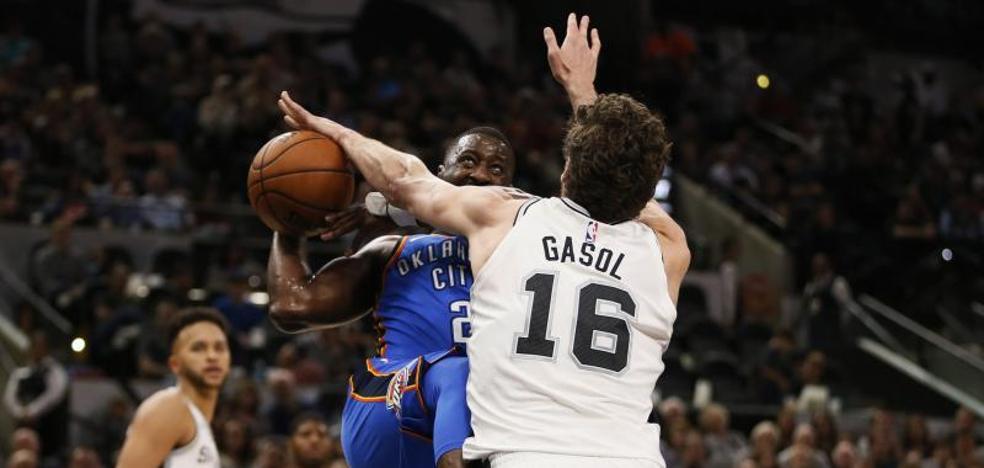 Pau Gasol y los Spurs detienen la marcha de los Thunder