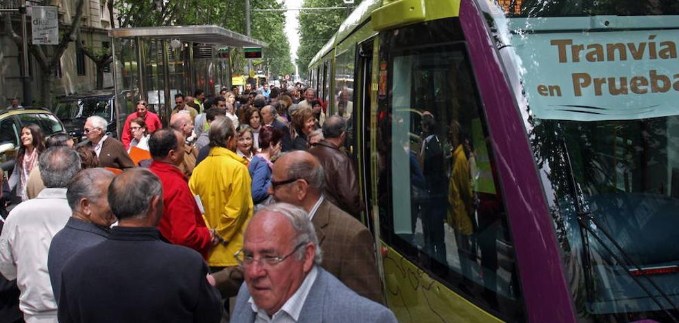 El coste del billete del tranvía de Jaén, 0,82 euros
