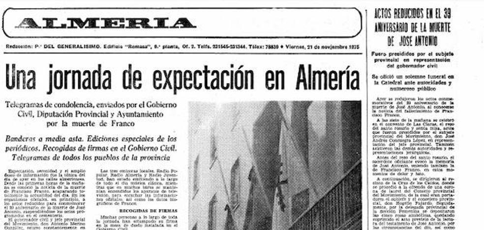 Almerienses: Franco ha muerto