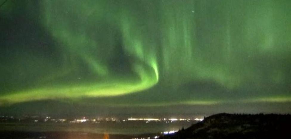 Así se ven las auroras boreales sobre el cielo de Alaska