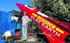 Un cohete casero para demostrar que la tierra es plana