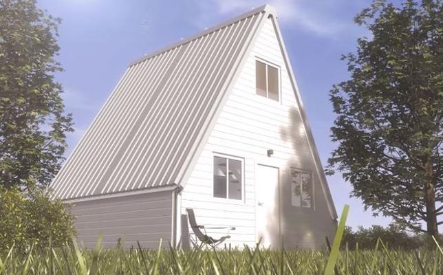 La genial casa desplegable que construyes en 6 horas y puedes comprar por 28.000 euros
