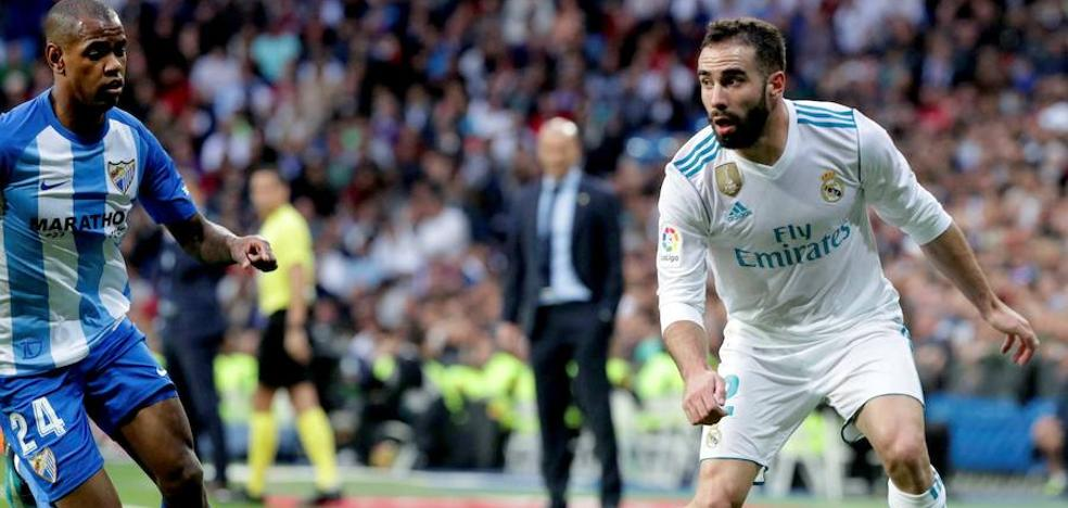 Carvajal: «Los dos primeros goles del Málaga son fallos nuestros»