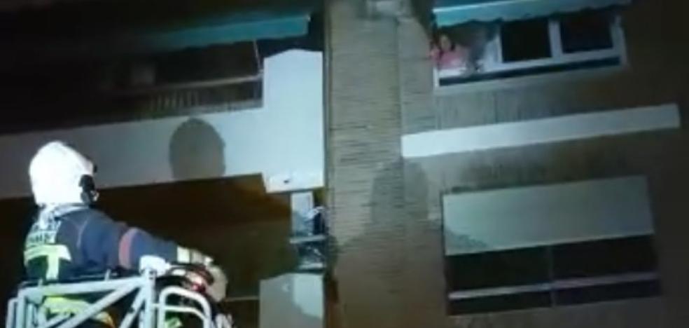 Las impactantes imágenes del rescate de los vecinos de San Juan del Letrán