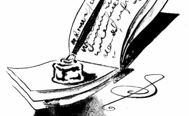 El tintero para escribir