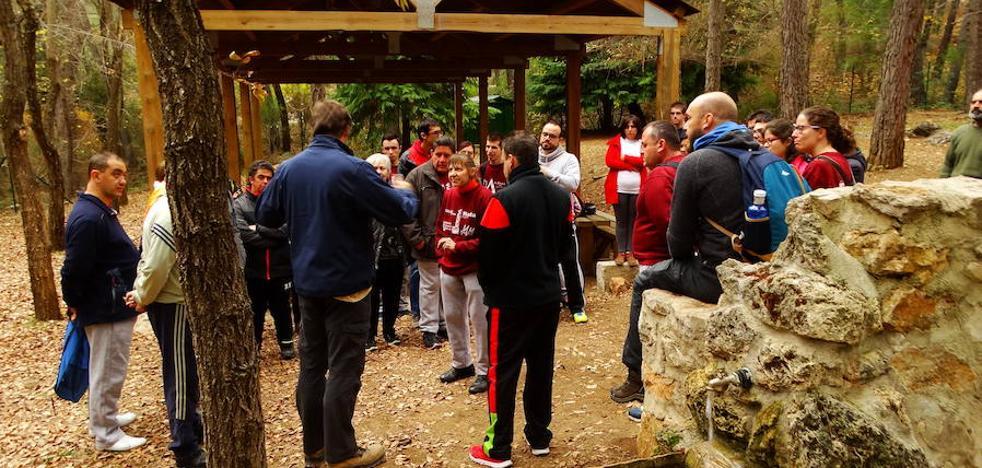Voluntarios de Aprompsi colaboran en reforestar un paraje de Villanueva del Arzobispo