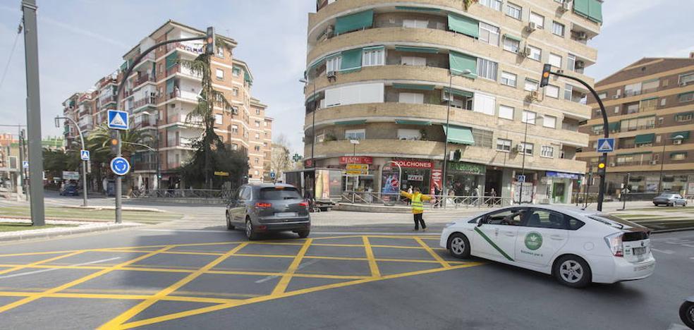 La huelga reduce un 70% la cifra de taxis circulando por Granada