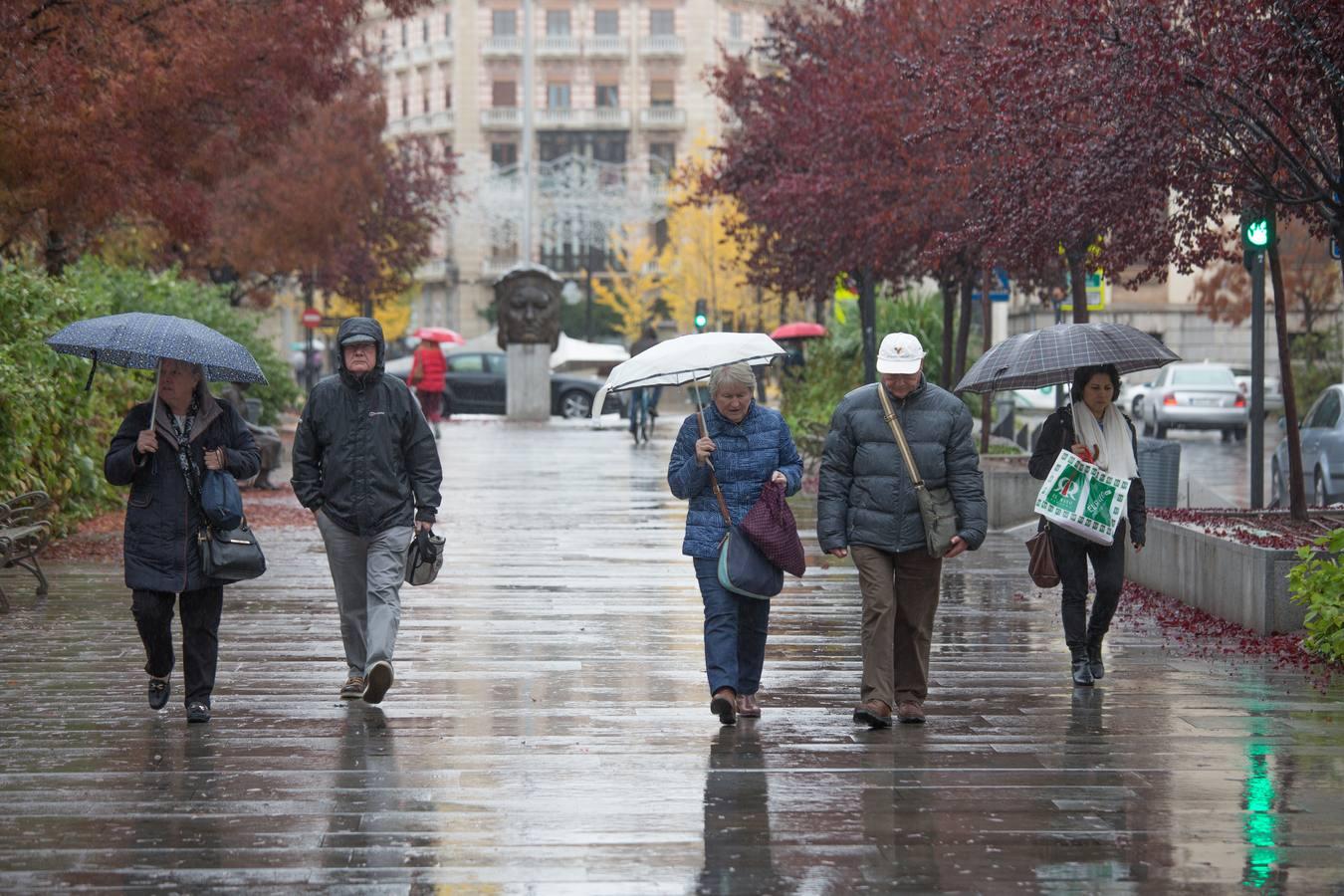 Miércoles de lluvia en Granada