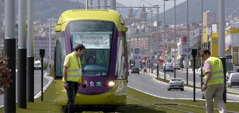 Puesta en marcha del tranvía de Jaén