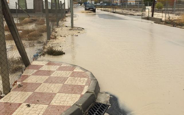 Granada registra en un solo día la sexta parte de todo lo que llueve en un año