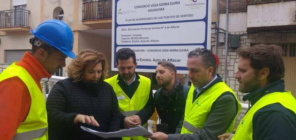 Aguasvira instala colectores 'inteligentes' en Alfacar y mejora el saneamiento