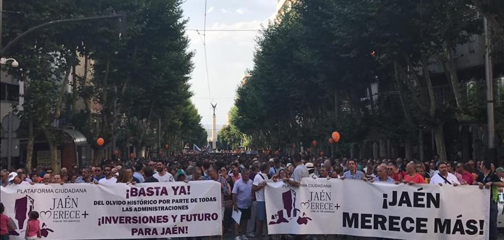 Jaén Merece Más vuelve a llamar a la movilización el 17 de diciembre