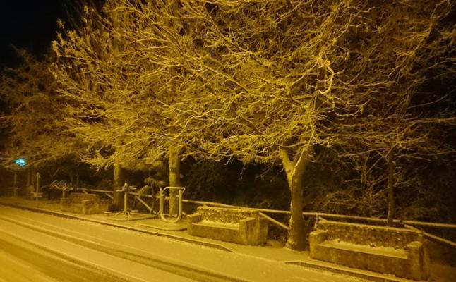 Primera nevada en Santiago Pontones