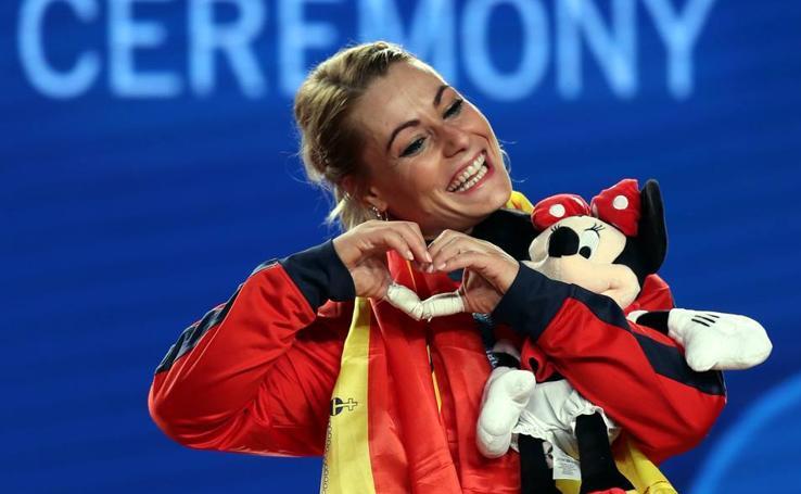 Lydia Valentín, campeona del mundo