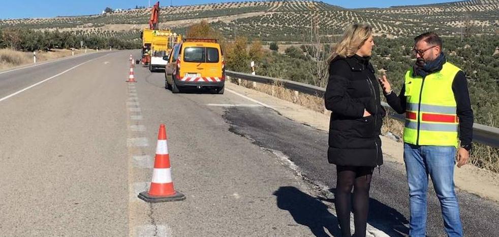 La Junta interviene en la A-6109 para mejorar la seguridad vial entre Puente del Obispo y Baeza