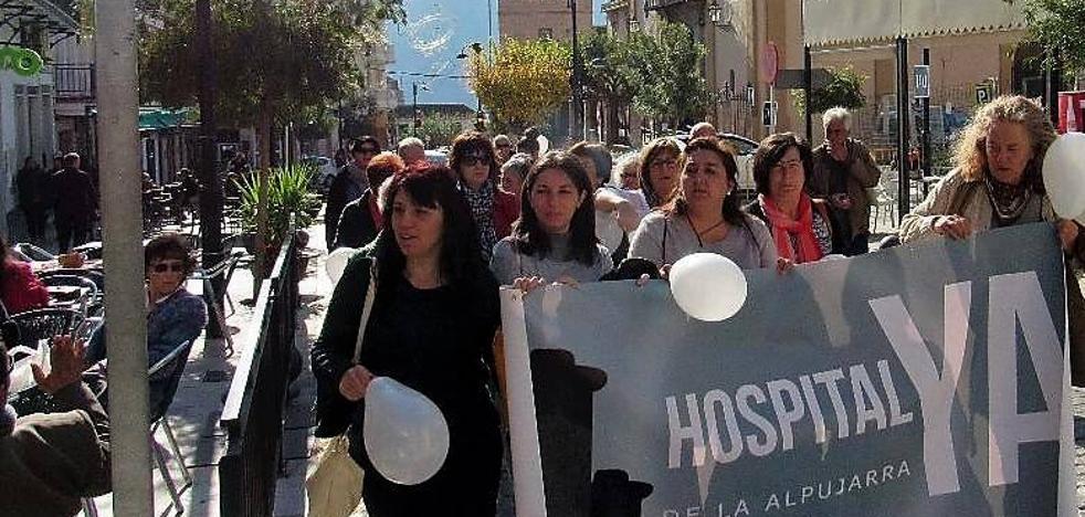 Hospital de la Alpujarra se concentra en Órgiva para solicitar la construcción del Hospital de Alta Resolución