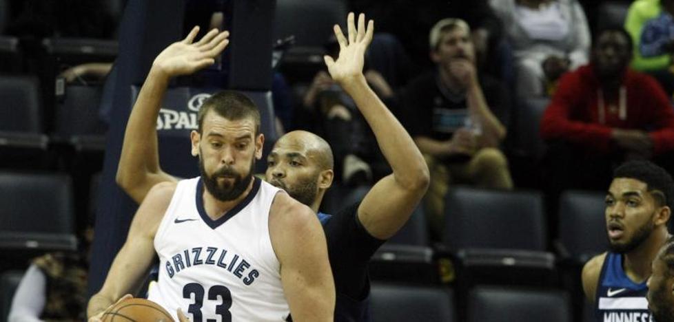 Los Grizzlies vuelven a ganar con un buen Marc; 'doble-doble' de Willy y de Pau