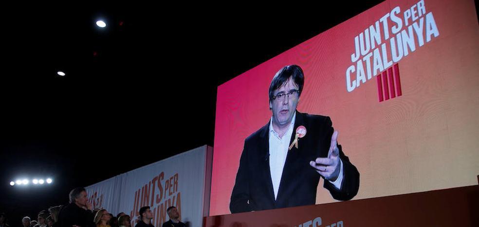 Puigdemont reclama una victoria contundente para forzar a Rajoy a sentarse a negociar