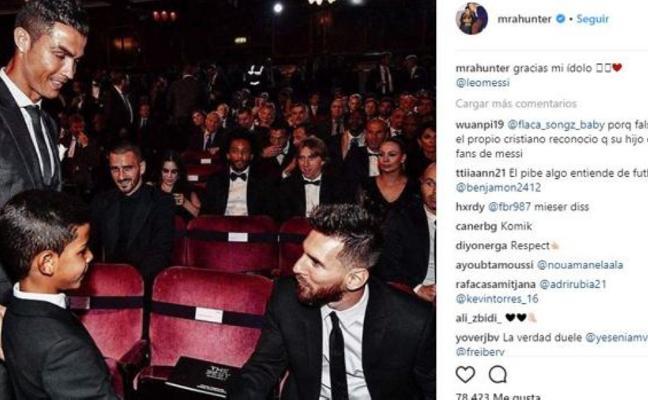 El piropo del hijo de CR7 a su «ídolo» Messi