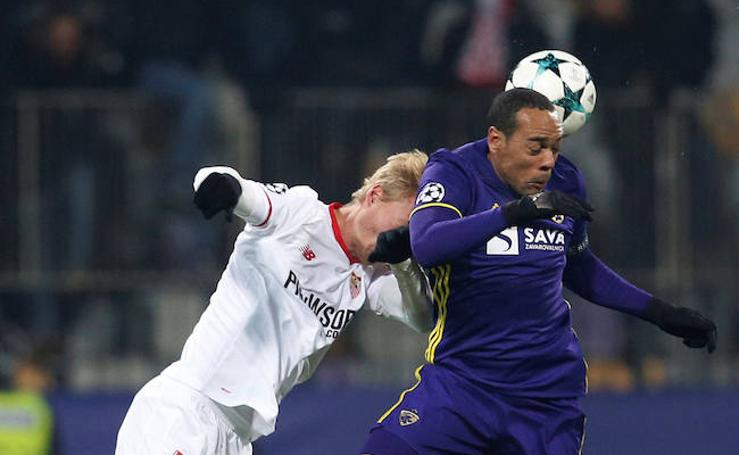 Los mejores momentos del Maribor-Sevilla, en imágenes