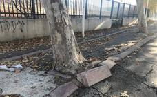 El exterior del polideportivo de Las Fuentezuelas, una 'yincana'