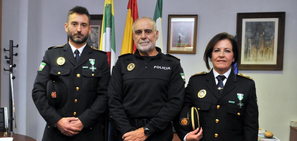 Satisfacción en la Policía Local por el reconocimiento andaluz de dos agentes