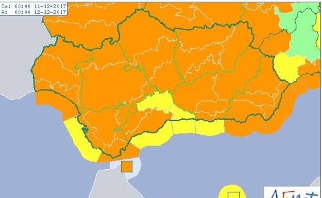 El riesgo por viento se eleva a naranja en Almería