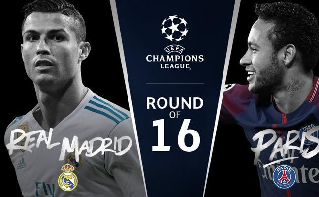 Madrid-PSG, Chelsea-Barcelona y Sevilla-Manchester United, en octavos