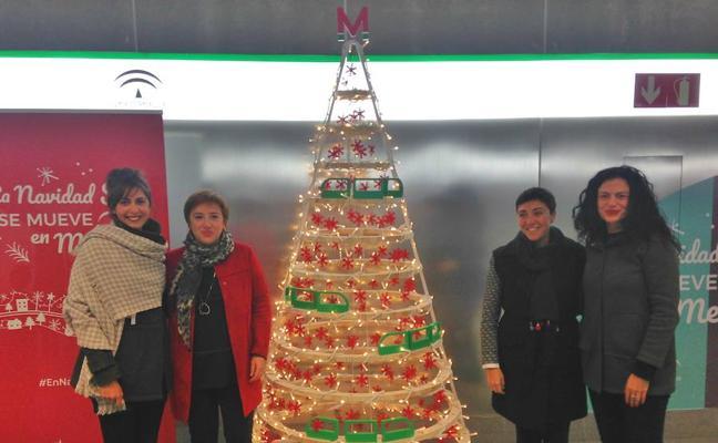 El metro de Granada presenta sus horarios especiales para Navidad