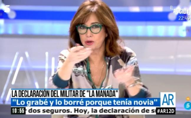 """Ana Rosa estalla contra la 'Manada': """"Además de guarros son lerdos"""""""