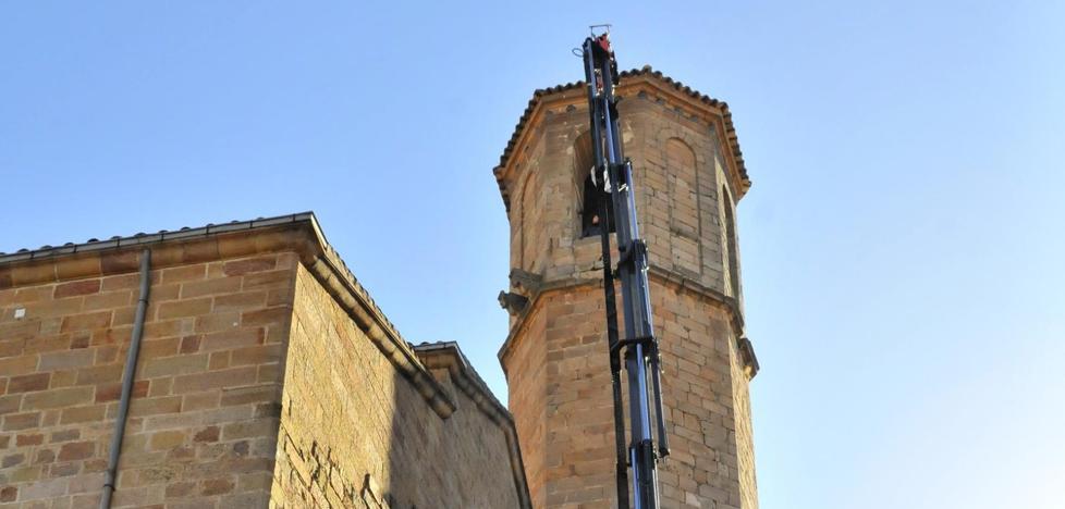 Un nuevo repique de la campana de Santa María para garantizar su conservación