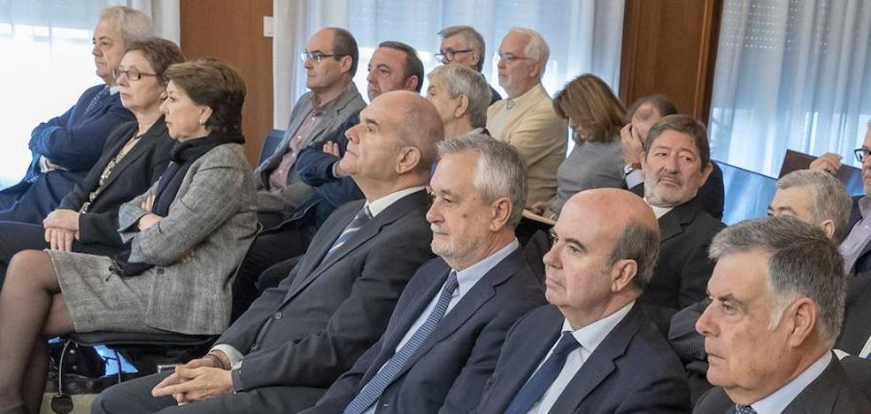 El banquillo del 'caso ERE': Dos presidentes y seis consejeros de la Junta de Andalucía