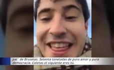 Defensa investiga a dos civiles por subirse a un carro de combate desde el que amenazaron a Puigdemont y a Iglesias