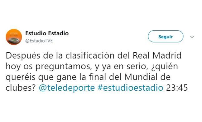 'Estudio Estadio' sufre un troleo en redes sociales por culpa de una encuesta