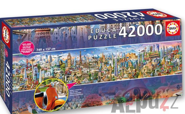 Este puzzle español es el más grande del mundo: 42.000 piezas y 7,49 metros