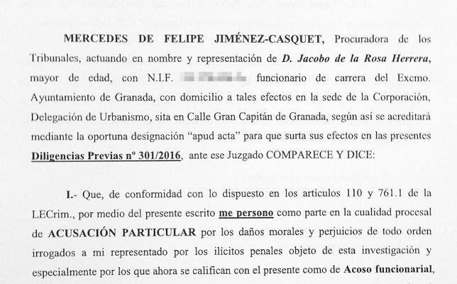 El principal testigo de la Nazarí denuncia por acoso laboral a Isabel Nieto y Manuel Lorente