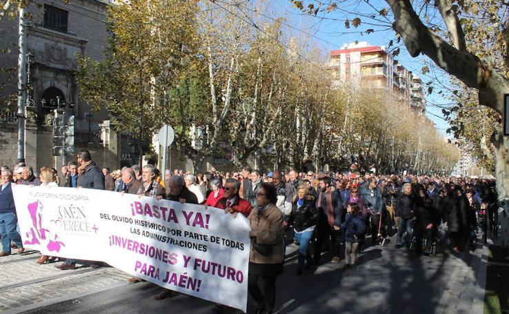 Manifestación Jaén Merece Más