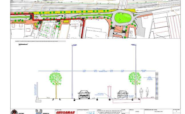 Las obras en Sierra Alhamilla triplicarán la rotonda bajo la avenida del Mediterráneo